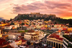 Bilder Griechenland Gebäude Ruinen Sonnenaufgänge und Sonnenuntergänge Attica Städte