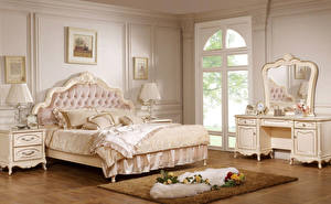 Image Interior Roses Design Bedroom Bed Lamp Carpet