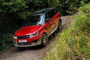 Papel de Parede Desktop Land Rover Vermelho Metálico 2017 Sport Autobiography Worldwide carro