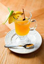 Hintergrundbilder Zitrone Zimt Fruchtsaft Teller Trinkglas Löffel Lebensmittel
