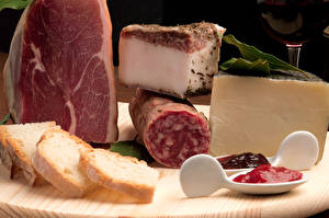 Fotos Fleischwaren Schinken Wurst Brot Käse Salo - Lebensmittel Lebensmittel