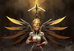 Images Overwatch Warriors mercy Games Girls Fantasy