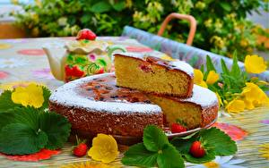 Bilder Obstkuchen Puderzucker Lebensmittel