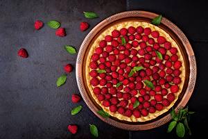 Fotos Obstkuchen Himbeeren
