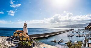 Fotos Portugal Haus Meer Schiffsanleger Segeln Jacht Madeira Städte
