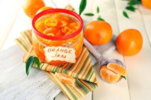 Bilder Warenje Zitrusfrüchte Mandarine Einweckglas