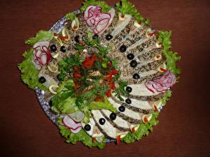 Wallpapers Seafoods Vegetables Olive Sliced food Design Food