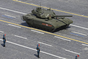 Hintergrundbilder Panzer Russisches 2015-18 T-14 Armata
