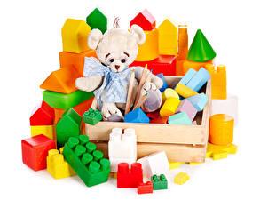Fotos Spielzeug Teddybär Weißer hintergrund