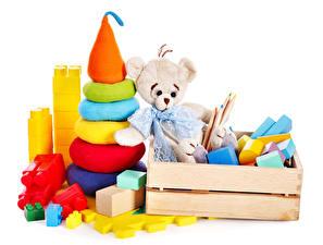 Hintergrundbilder Spielzeug Teddy Weißer hintergrund