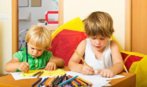 Desktop wallpapers 2 Pencils Boys Children