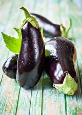 Fotos Gemüse Aubergine Bretter Lebensmittel