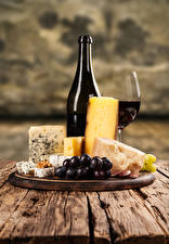 Image Wine Cheese Grapes Bottle Stemware Cutting board