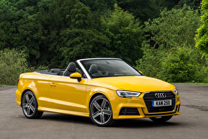 Pictures Audi Yellow Convertible Metallic 2016 A3 Cabriolet 1.4 TFSI S line Cars