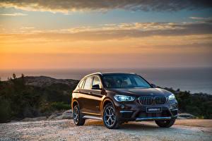 Hintergrundbilder BMW Braun 2016 X1 xDrive25Li xLine Autos