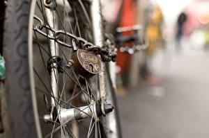 Bakgrunnsbilder Nærbilde Hjulet Sykkel Hengelås Kjetting