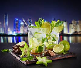 Wallpapers Drinks Lemons Mojito Highball glass Food