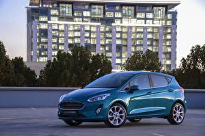 Wallpaper Ford Metallic 2018 Fiesta Titanium 5-door automobile