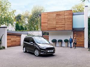 Hintergrundbilder Ford Grau 2018 Tourneo Courier Worldwide Autos