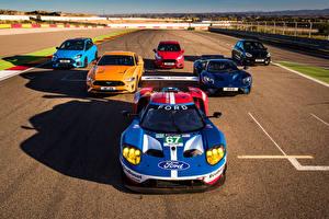 Bakgrundsbilder på skrivbordet Ford Många Framifrån GT, Mustang, Fiesta ST, Focus RS, Fiesta ST 5-door Bilar