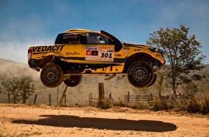 Fotos Ford Tuning Gelb Rallye Sprung Seitlich 2016-18 Ranger Rally dos Sertoes automobil