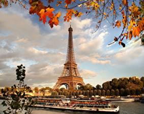 Bilder Frankreich Herbst Eiffelturm Paris