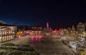 Fotos Frankreich Haus Platz Nacht Saint Quentin Städte