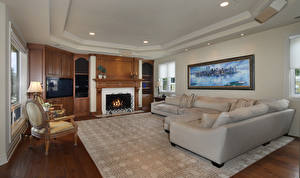 Photo Interior Design Living room Couch Armchair Rug