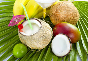 Wallpaper Juice Avocado Coconuts Parasol