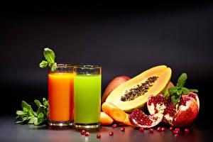 Bilder Saft Granatapfel Obst Gemüse Trinkglas Getreide Lebensmittel