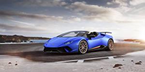 Hintergrundbilder Lamborghini Blau Roadster  Autos