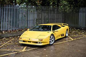 Image Lamborghini Retro Yellow 1994-95 Diablo SE30 automobile