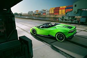Picture Lamborghini Lime color Roadster Spyder Novitec Torado Huracan auto