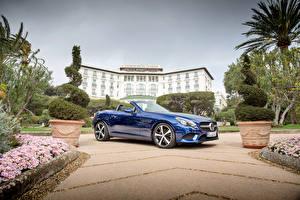 Фотография Mercedes-Benz Синий Металлик Кабриолет 2016 SLC 300 машины