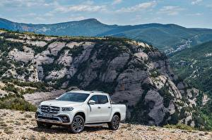 Fotos Mercedes-Benz Weiß Pick-up 2017 X-Klasse Power Worldwide