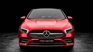 Bilder Mercedes-Benz Vorne Rot Limousine 2019 L Sport A200 A-Class Autos