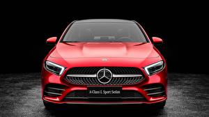 Pictures Mercedes-Benz Front Red Sedan 2019 L Sport A200 A-Class automobile