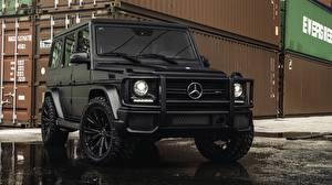 Bilder Mercedes-Benz G-Modell Schwarz G63 AMG