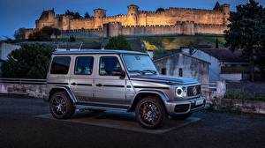 Images Mercedes-Benz G-Class Silver color Side G 63 AMG 2018 auto