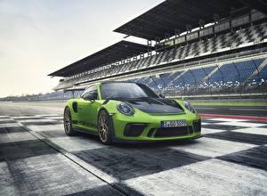 Wallpapers Porsche Metallic Green 2018 911 GT3 RS Worldwide Cars