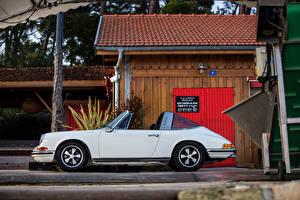 Wallpapers Porsche Antique White Convertible Side 1969-71 911 S 2.2 Targa auto