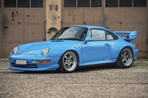 Wallpapers Porsche Vintage Light Blue Metallic 1995-97 911 GT2 Cars