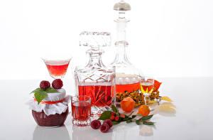 Bilder Konfitüre Himbeeren Alkoholische Getränke Einweckglas Dubbeglas Lebensmittel