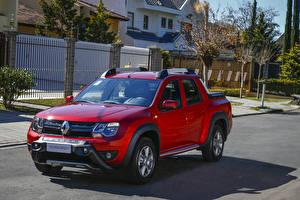 Tapety na pulpit Renault Czerwony Pikap 2015-17 Duster Oroch samochód