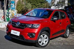 Tapety na pulpit Renault Czerwony 2017 Kwid Zen Latam samochód