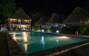 Picture Resorts Building Pools Night Tikal Guatemala Cities