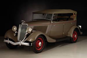 Image Vintage Ford Brown Metallic 1934 V8 Deluxe Phaeton automobile