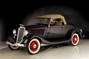 Pictures Retro Ford Brown Metallic 1934 V8 Deluxe Roadster automobile