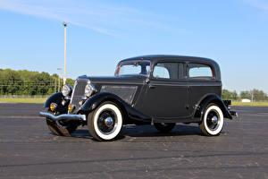 Pictures Retro Ford Metallic 1934 V8 Deluxe Tudor Sedan automobile