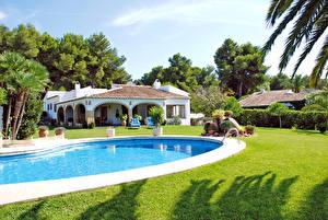 Picture Spain Villa Houses Swimming bath Lawn Costa Blanca Cities